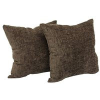 """Mainstays Chenille Decorative Throw Pillow, 18"""" x 18"""", Navy, Two Pack"""