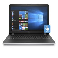 "HP Jaguar 15-bs070wm, 15.6"" Natural Silver Touch Laptop, Windows 10, Intel Core i5-7200U Processor, 8GB Memory, 1TB Hard Drive"