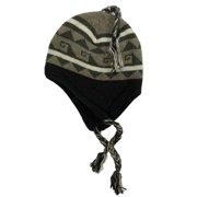 179e63cc0a5c4 Igloos Mens Khaki   Black Geometric Print Peruvian Style Trapper Hat Fleece  Line