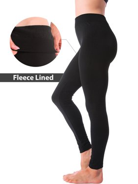 Winter Warm Fleece Lined Thick Brushed Full Length Leggings Thights Pants