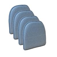 """The Gripper Non Slip 15"""" x 16"""" Venus Chair Cushion, Set of 4"""
