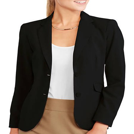 Black Sequin Blazer - Women's Classic Career Suiting Blazer