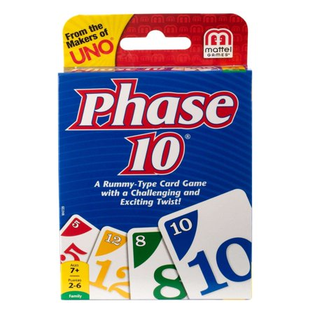 - Phase 10 Challenging & Exciting Card Game for 2-6 Players Ages 7Y+