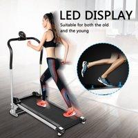 Treadmill LED Display Folding Equipment Fitness Running Machine w/Support Folding Treadmill for Home Jogging Running Machine