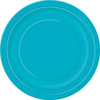 Teal Paper Dessert Plates, 7in, 50ct