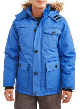 Men's Heavy Water Resistant Parka With Faux Fur Trimmed Hood, Up to Size 3XL