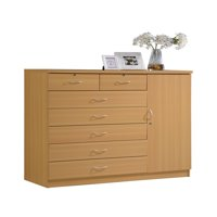 Hodedah 7-Drawer Jumbo Dresser, Multiple Colors