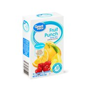 Great Value Sugar-Free Fruit Punch Drink Mix, 0.78 Oz., 10 Count