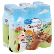 Great Value 1% Low Fat Chocolate Milk, 8 fl oz, 6 count