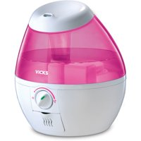 Vicks Mini Filter Free Cool Mist Humidifier - Pink