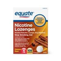 Equate Nicotine Lozenges, Cinnamon Flavor, 4 mg, 108 Count