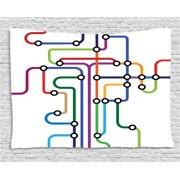 Subway Map Tapestry.Subway Maps