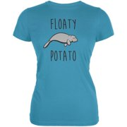 Floaty Potato Manatee Aqua Juniors Soft T-Shirt
