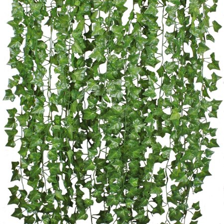 Coolmade 84FT 12 Strands Artificial Flowers Silk Fake Ivy Leaves Hanging Vine Ivy Plants Leaf Garland for Wedding Party Garden Home Wall Decor](Wedding Decore)