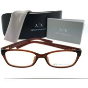 74398231c5 Armani Exchange AX3009F-8063-53 Rectangular Women s Brown Frame Eyeglasses  NWT