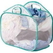 Mainstays Pop-up Mesh Laundry Basket, White