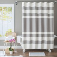 Better Homes And Gardens Waffle Stripe Grey Shower Curtain