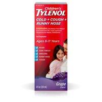 Children's Tylenol Cold + Cough + Runny Nose Medicine, Grape, 4 fl. oz