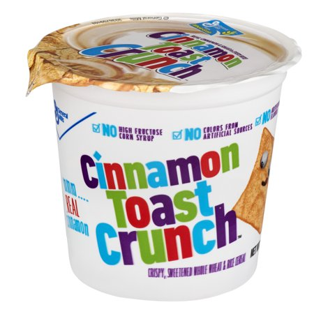 (6 Pack) Cinnamon Toast Crunch⢠Cereal Cups, 6ct, 2.0 OZ