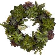 Battery lighted wreaths succulent wreath aloadofball Gallery