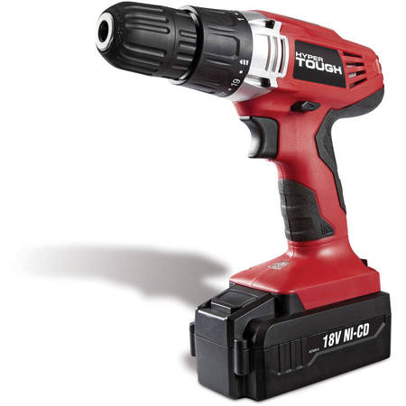 Hyper Tough 18-Volt Ni-Cad Cordless Drill, (Best Drill Machine For Home Use)