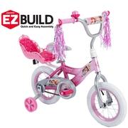 "Disney Princess 12"" Girls' EZ Build Pink Bike, by Huffy"