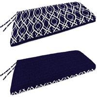 Mainstays Navy Trellis Outdoor Patio Bench Cushion