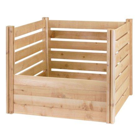 Greenes Fence Cedar Wood Composter Bin - 41 Cubic Feet