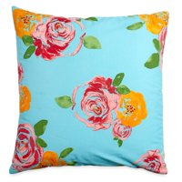 "The Pioneer Woman Rose Oversized 26"" x 26"" Decorative Throw Pillow, Teal"
