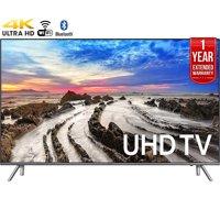 "Refurbished Samsung 75"" Class 4K (2160P) Smart LED TV (UN75MU8000FXZA) + 1 Year Extended Warranty"