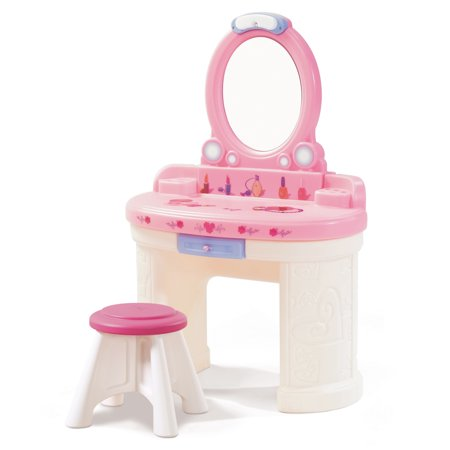 Step2 Fantasy Vanity Girls Pretend Vanity Play Set (Kid Vanity Set)