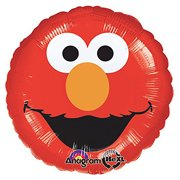 18 Elmo Head Character Authentic Licensed Theme Red Foil Mylar Balloons