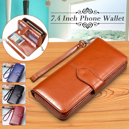 - Grtsunsea Fashion PU Leather Wallets For Women Large Capacity Phone Wallet Handbag Clutch Bag Long Card Holder Zipper Clutch