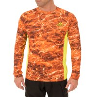 Mossy Oak Men's Insect Repellent Long Sleeve Performance Fishing Tee
