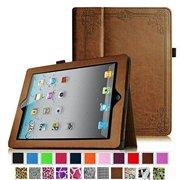 Fintie iPad 2/ iPad 3/ iPad 4 Gen Folio Case - PU Leather Cover with Auto Wake/ Sleep Feature, Vintage Antique Bronze