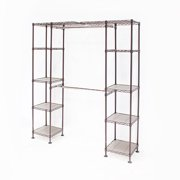 "Seville Classics 58""-83""W Expandable Closet Organizer System, Bronze"