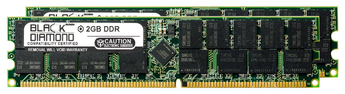 4GB 2X2GB Memory RAM for HP Workstation Xw9300 184pin PC3200 400MHz DDR RDIMM Black Diamond Memory Module Upgrade