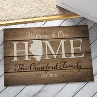 Personalized Home State Doormat - All 50 States Available