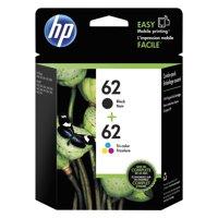 HP 62 Black & Tri-color Original Ink Cartridges, 2 pack (N9H64FN)