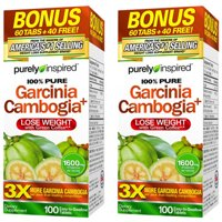 Purely Inspired Garcinia Cambogia Non Stimulant Diet Pills Bonus Pack, Veggie Tablets, 100 Ct