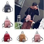 Women Mini Corduroy Backpack Girls School Bags Small Travel Handbag Shoulder Bag