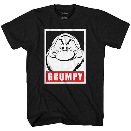 Disney Men's Snow White and Seven Dwarfs Grumpy Frame Face Disneyland World Retro Classic Vintage Tee Funny Humor Adult Mens Graphic T-Shirt Apparel - Adult Humour