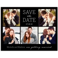 Clean and Classic Wedding Save the Date Postcard