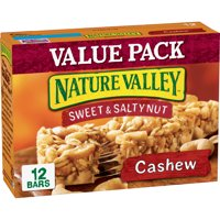 Nature Valley Granola Bars, Sweet & Salty Nut, Cashew, 12 Bars, 1.2 oz