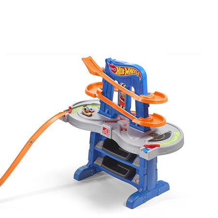 Raceway Single (Step2 Hot Wheels Road Rally Raceway Race Car Track with Toy Cars )