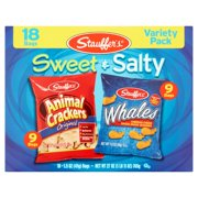 Stauffer's Sweet & Salty Variety Pack, Original Animal Crackers & Cheddar Whale Crackers, 1.5 Oz, 18 Ct