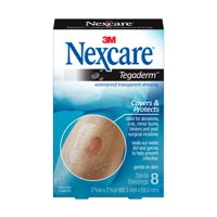 Nexcare Tegaderm Waterproof Transparent Dressing, 2-3/8 in x 2 3/4 in, 8 ct.