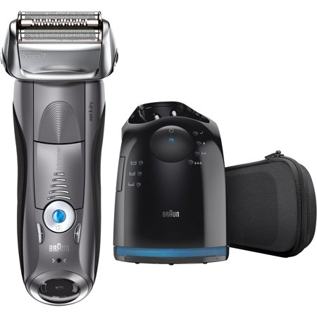 Braun Series 7 7865cc ($50 Mail in Rebate Available) Men's Electric Foil Shaver, Wet and Dry Razor with Clean & Charge