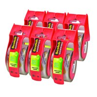 Scotch Sure Start Shipping & Packaging Tape Dispenser 6 Pack