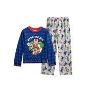 956ea994d8f60 Nintendo Boys' Super Mario Plush Fleece Robe and Pajamas, Blue Pajama, Size: